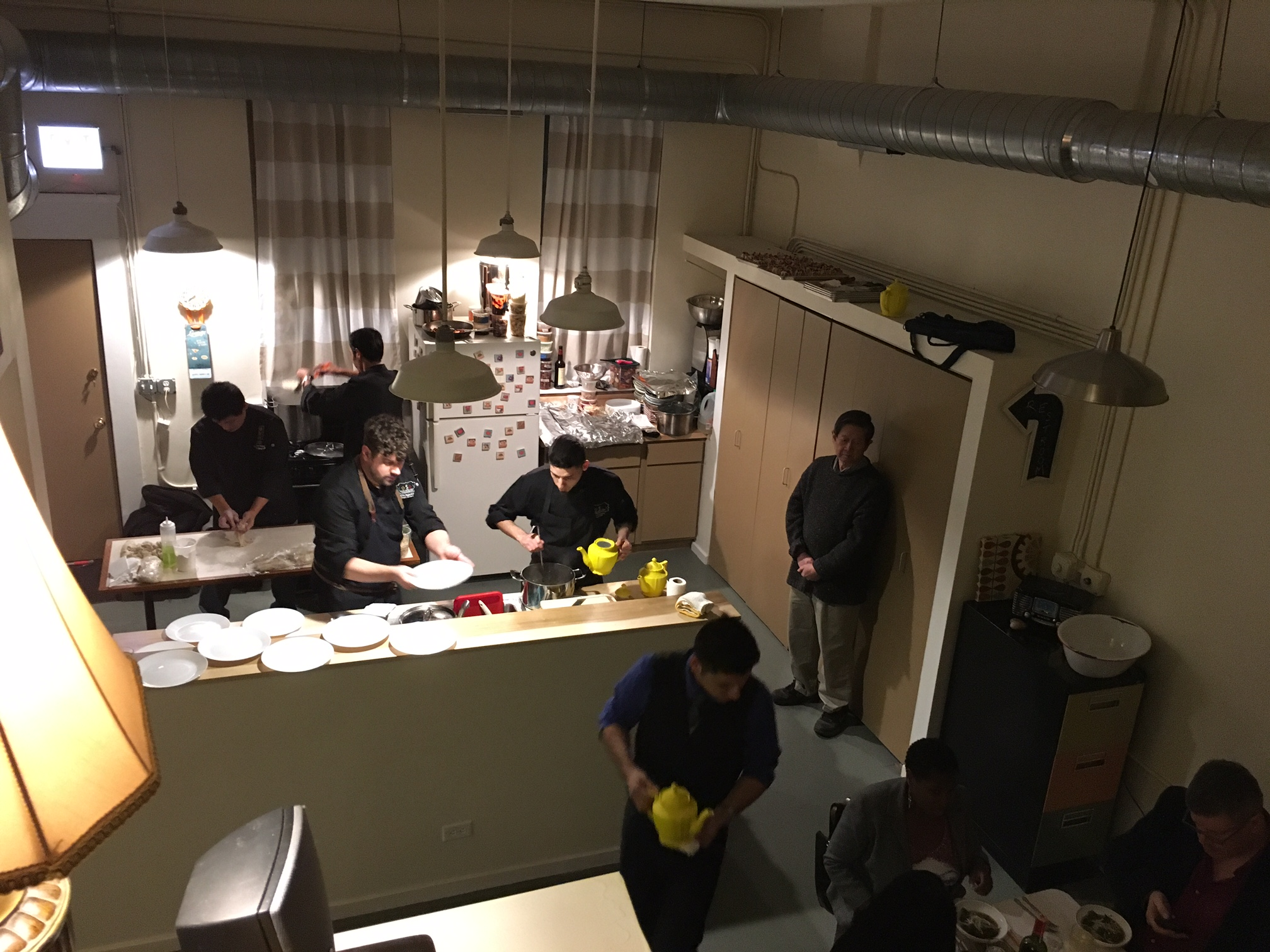 The Kitchen at Bespeak Studios with chef
