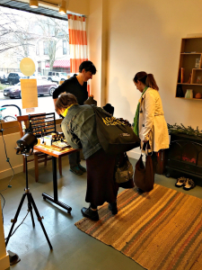 The Storefront East with holiday pop-up shoppers